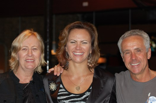Lucy Burns, Lauren Mitchell, Denis Burns (Treasurer & Booking Comittee Chair, Great Lakes Blues Society