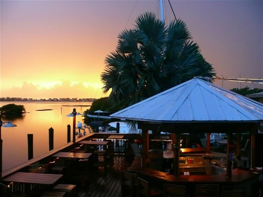 Sunset at the Swordfish Grill Cortez Florida