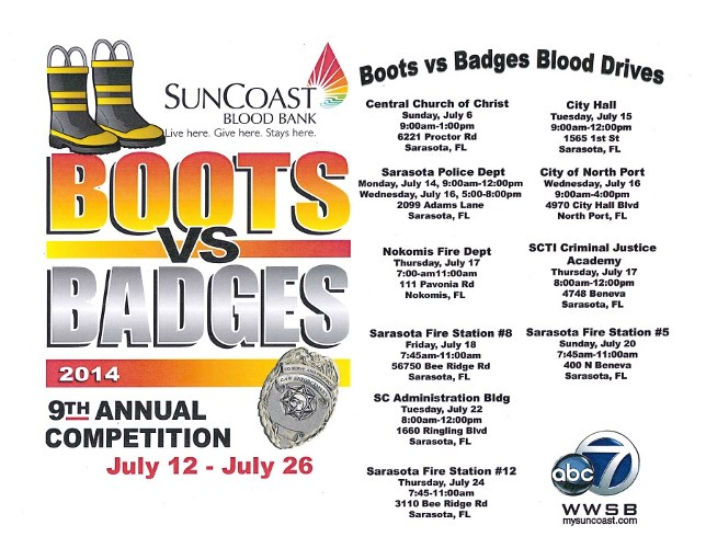 Boots vs Badges Blood Drive