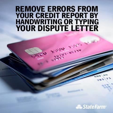 Remove Errors from your credit report