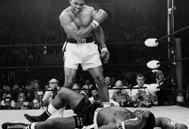 Muhammad Ali knocking out Sonny Liston