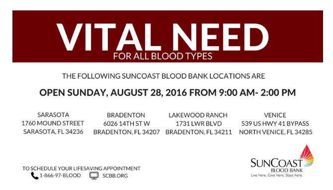 Blood Donations Sarasota Bradenton Venice Florida