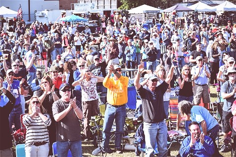 The crowd at last years Suncoast Blues Festival