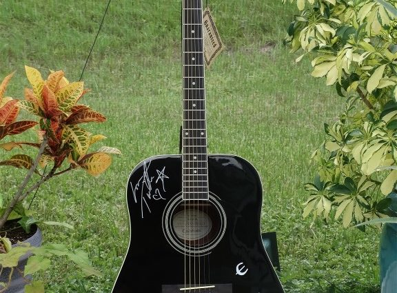 """Autographed Guitar For The """"Giving Back"""" Charity Event"""