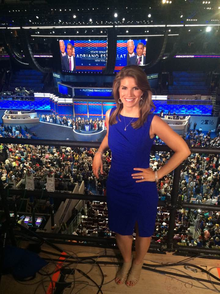 Haley Wielgus at the 2016 Democratic National Convention in Philadelphia