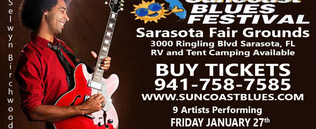 Suncoast Blues Festival Announces Line Up and Some Really Big News!