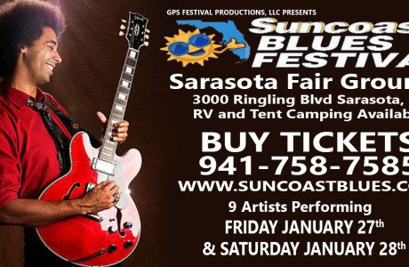 "Last Chance To Purchase ""Discount Tickets"" For The Suncoast Blues Festival"
