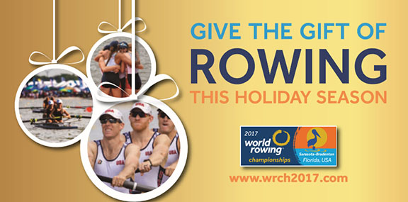 World Rowing Championships- Holiday Ticket and Merchandise Promotion to Begin Cyber Monday