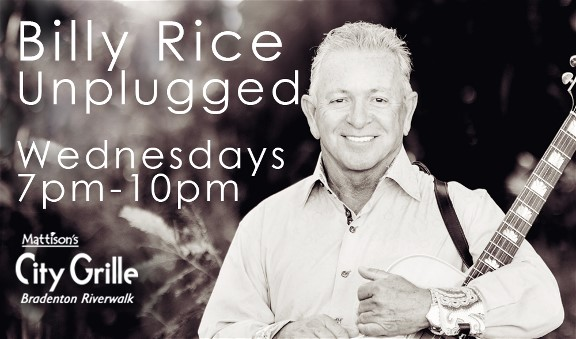 Billy Rice Performs Unplugged At Mattison's City Grille In Bradenton