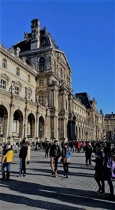 We saw the original Mona Lisa, the statue of Venus De Milo, Hercules, Cupid, paintings from before  Christ. There is nothing in the world that will compare to the Louvre.