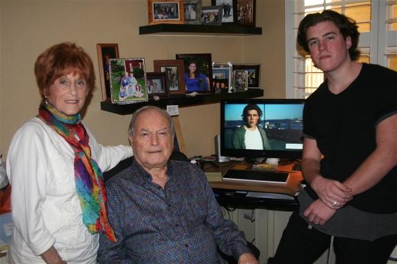 Sam Woolf with Papa Roy and Grandma Jackie