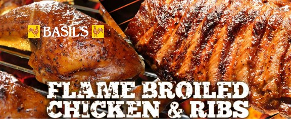 Basil's Flame Broiled Chicken and Ribs