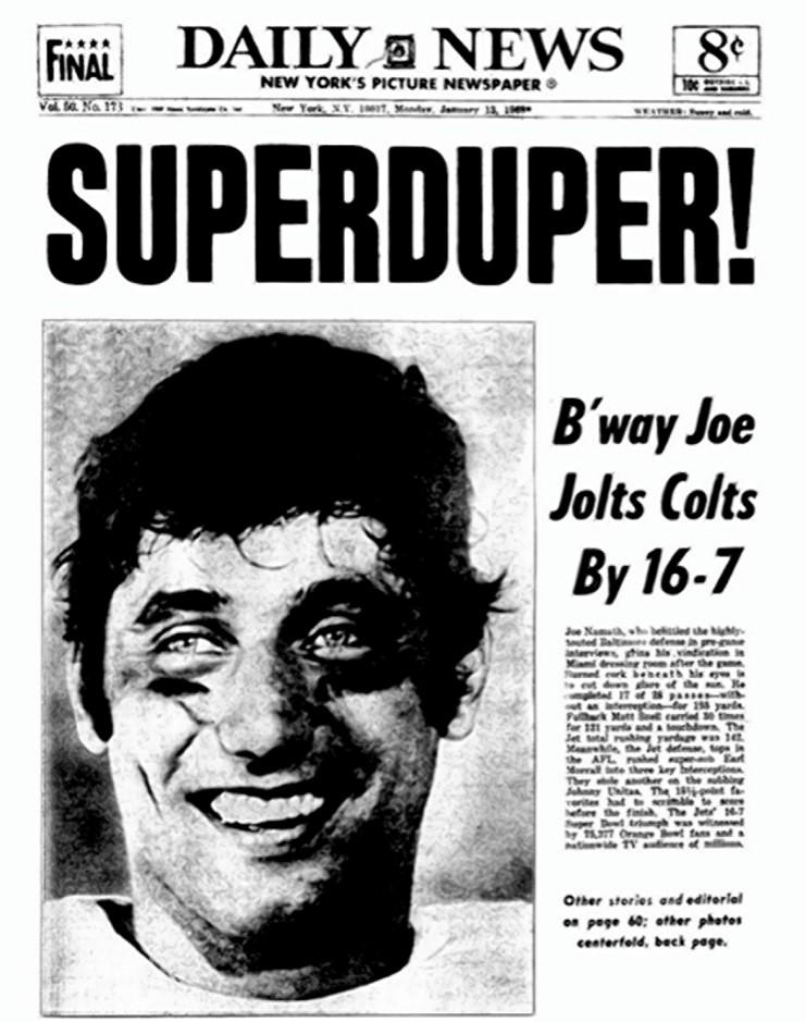 Joe Namath predicts victory in Super Bowl 3