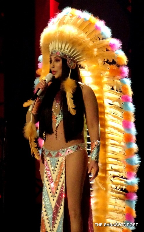 Twelve Bob Mackie costume changes, dancers, a live band, a little Cirque and chatting with the audience, she gives you the complete Cher experience