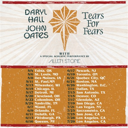Hall & Oates Tears For Fairs Tour