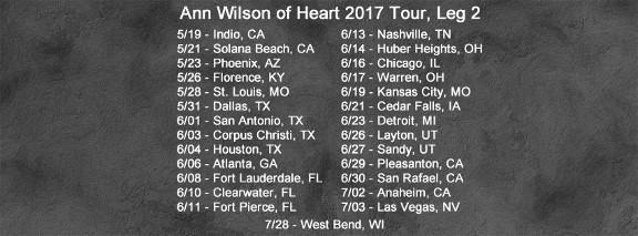 Ann Wilson Tour