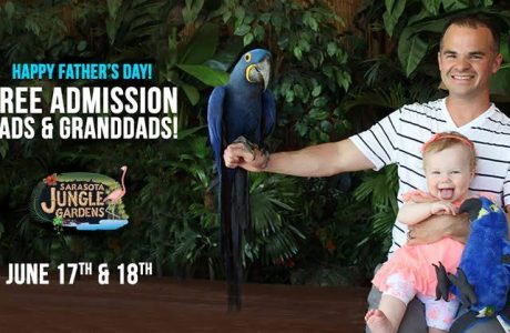 Dads, Granddads Are #1 With Free Admission to Sarasota Jungle Gardens Father's Day Weekend