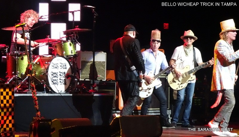 Bello with Cheap Trick in Tampa, Florida