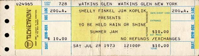 Summer Jam in Watkins Glen