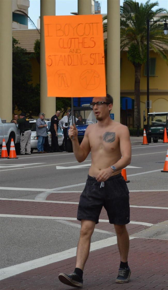 Protest in Bradenton, Florida