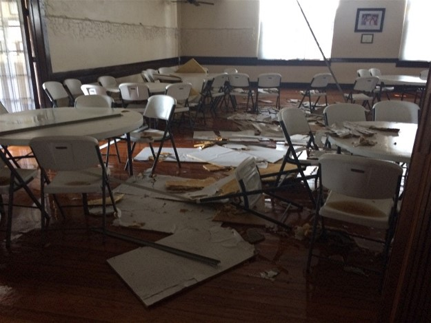 Interior damage to the Bradenton Woman's Club