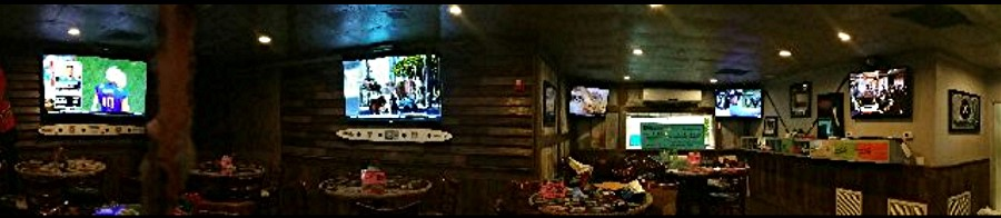 14 Big Screen TV's at the Flippin' Mullet Sports Bar