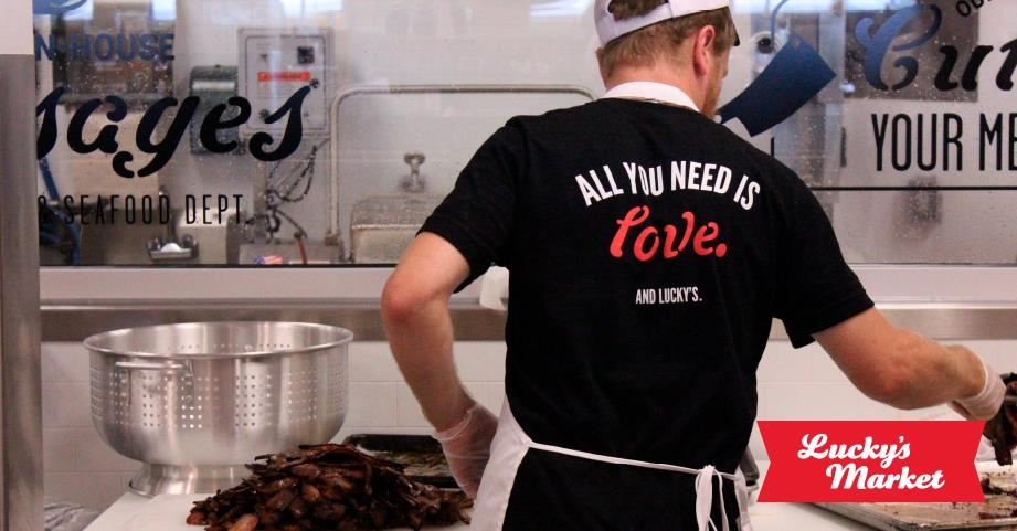 All you need is love at Luckly's Market in Sarasota Florida