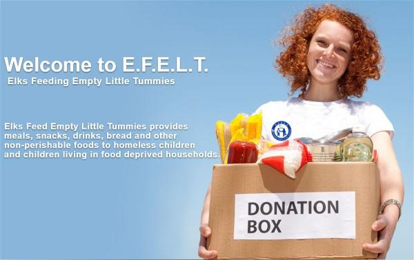 The Elks need your help Feeding Empty Little Tummies