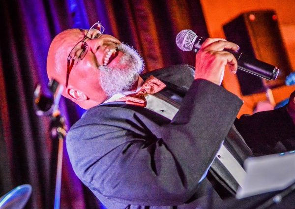 Acclaimed jazz vocalist Fred Johnson performs at Art Opening