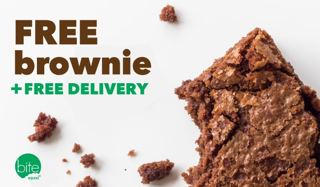 "Bite Squad to Give Away Free Brownies on ""Have a Brownie Day"" + Free Delivery"
