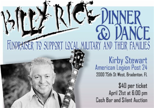 Got Freedom? Party for our Veterans at American Legion in Bradenton with Billy Rice