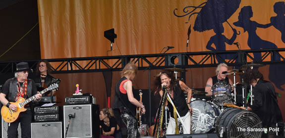 Aerosmith rocking the NOLA Jazz Fest 2018