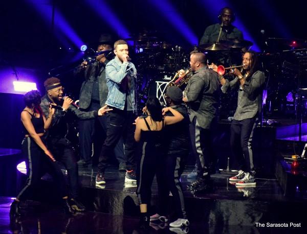 Justin Timberlake at Amalie Arena