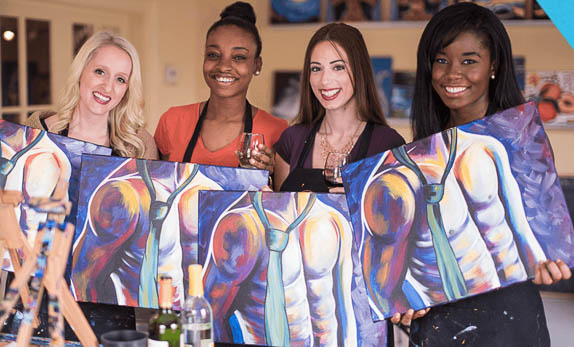 Painting With a Twist allows alcohol at their painting parties.