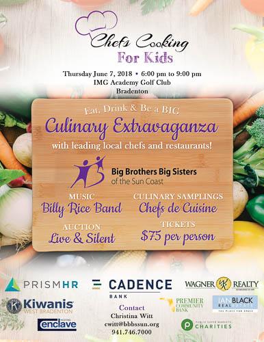 BBBS of the Suncoast  - Chef's Cooking for Kids fundraising event.