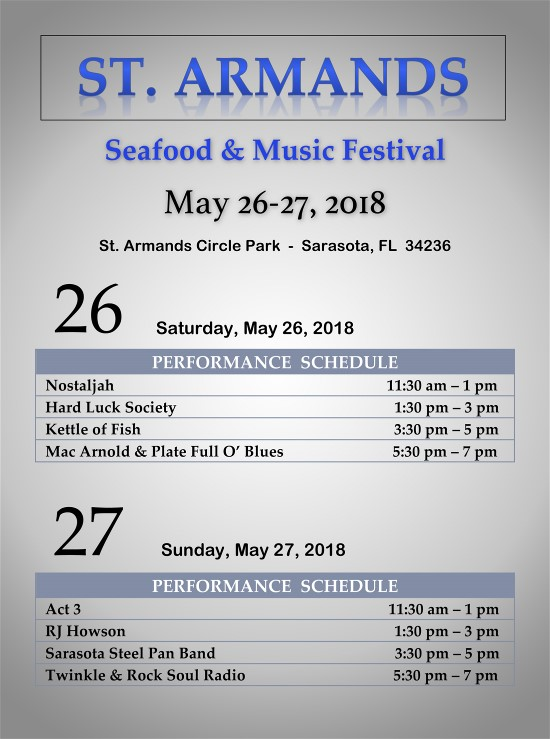 t. Armands Seafood & Music Festival
