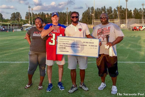 Over 20 NFL Athletes Help Coach Kids at the Brian Poole Football Camp at PAL in Bradenton, FL