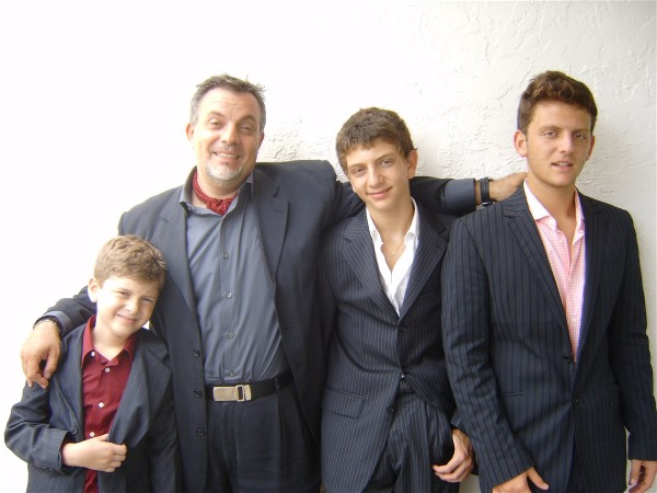 Maurizio Colucci and his young boys