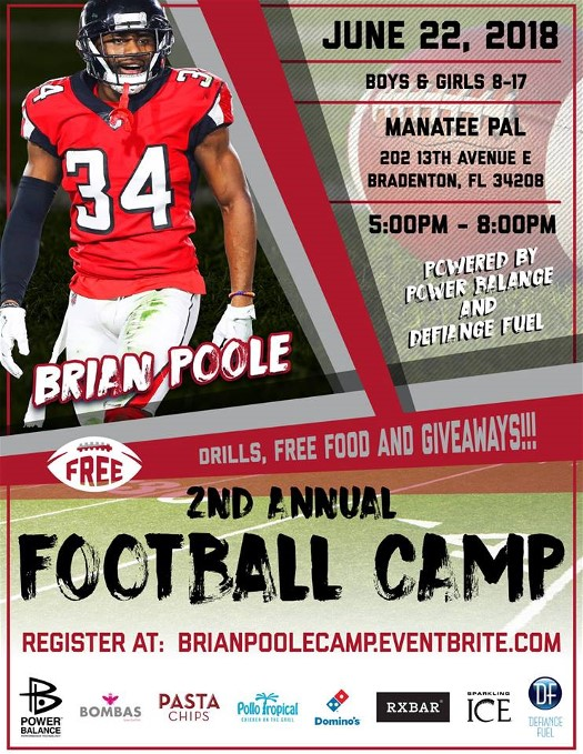 Brian Poole Football Camp at Manatee PAL
