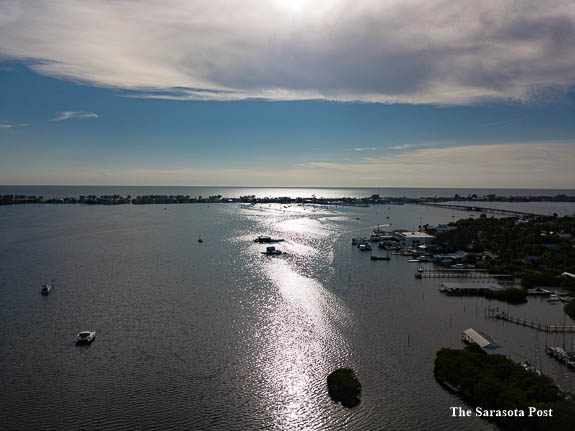 Beautiful view from a drone in Cortez, Florida