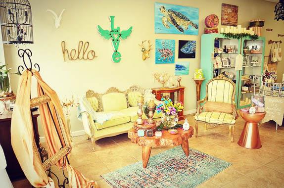 Some unique furniture at JustaBasketCase in Sarasota,FL