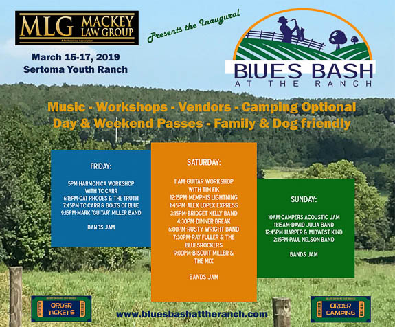 Great line up for the Inaugual Blues Bash at Sertoma Youth Ranch