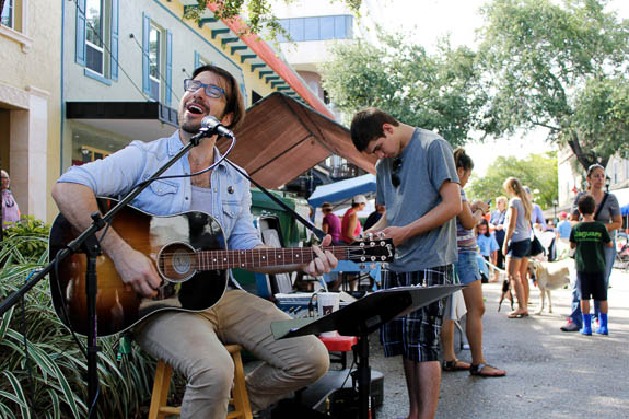 You'll hear live music at the Bradenton Farmer's Market.