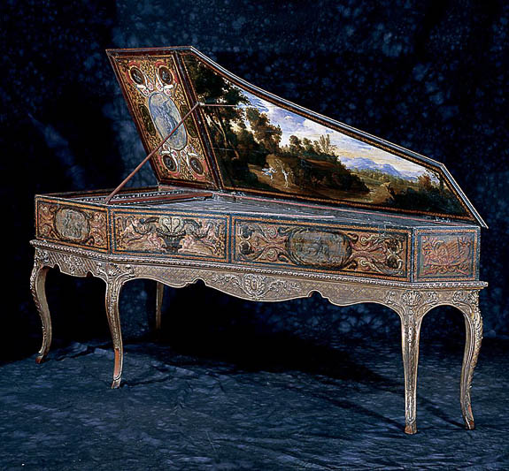 This beautiful piano is part of the collection of John and Mabel Ringling in Sarasota.