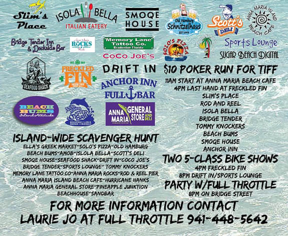 Rolling With The Tide event will help support Anna Maria Island Fl businesses and TIFF