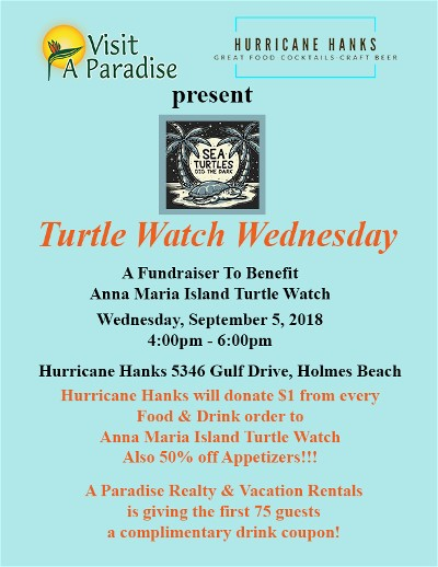 Turtle Watch Fundraiser at Hurriane Hanks Restaurant Holmes Beach, Florida