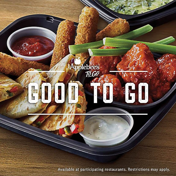 Applebee's To Go is great for take-out dinner.