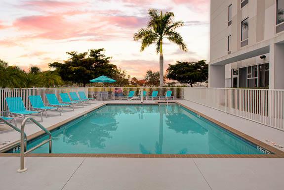 Cool off in the pool at Hampton Inn & Suites Sarasota/Bradenton Airport hotel.