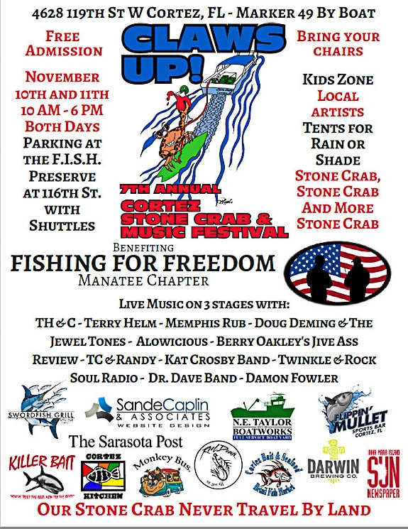 7th Annual Cortez Stone Crab & Music Festival in Cortez FL