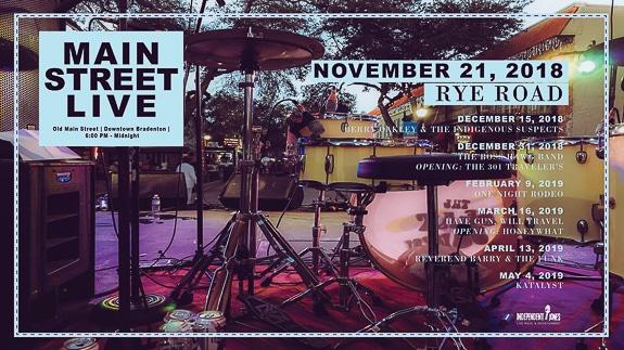 Main Street Live in Bradenton FL. Street Party,